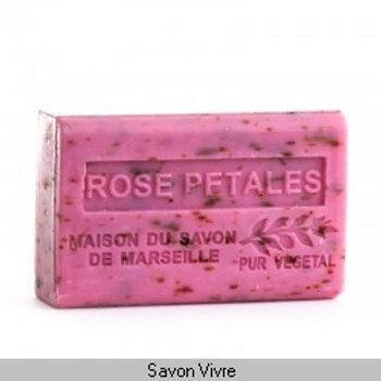 Savon 125 g rose pétale