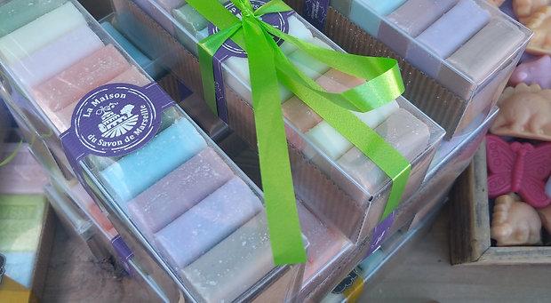 Pack 10 mini-savons de 30g.