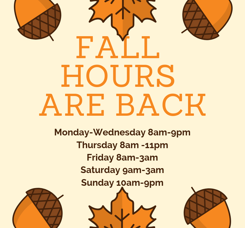 fall Hours are back