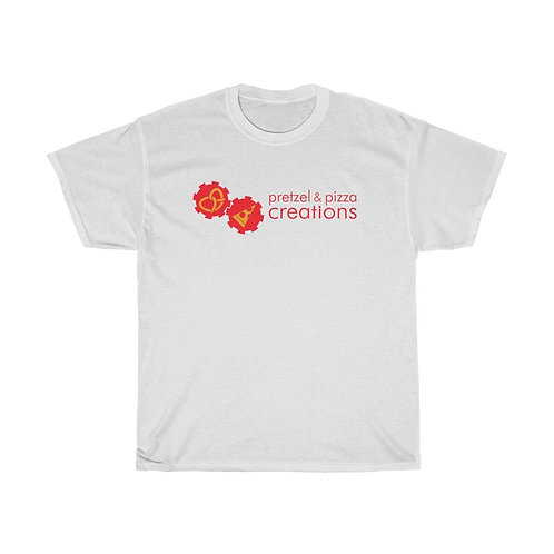 White with colored logo Unisex Heavy Cotton Tee