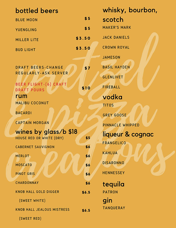 2020 hagerstown cocktail menu page 2