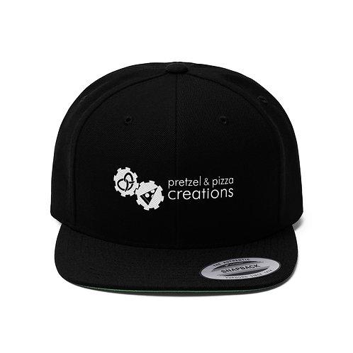 Unisex Flat Bill snap back hat