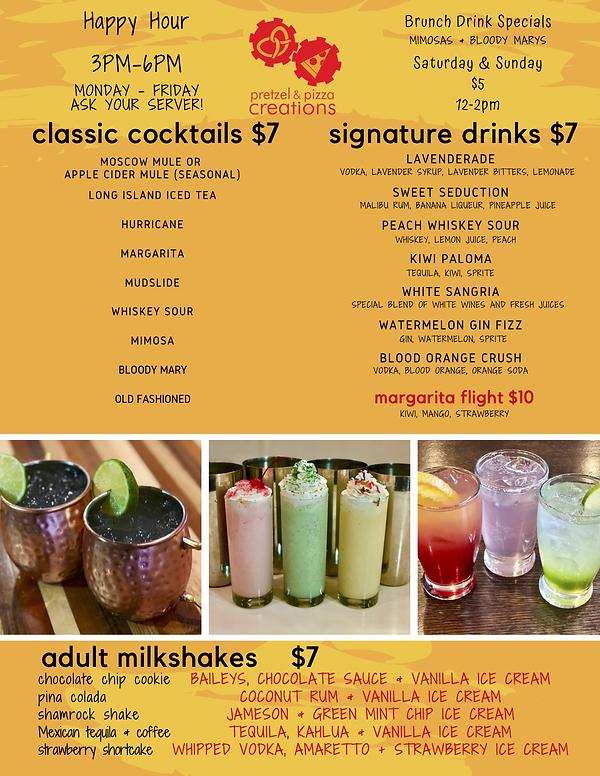 2020 hagerstown cocktail menu