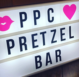 pretzel bar for weddings late night snack