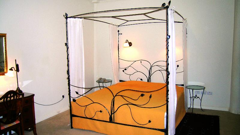 מיטת ברזל בסגנון מודרני עם אפיריון