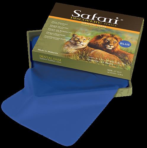 Safari Blue Rubber Dental Dam - Natural Rubber Latex