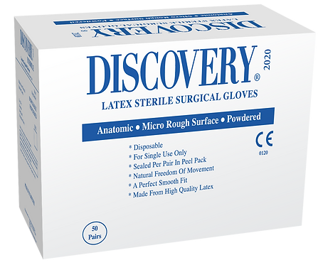 Discovery Latex Powdered Sterile Surgical Gloves (Non-USA)
