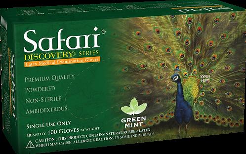 Safari Green Mint Latex Powdered Exam Gloves (NON-USA)
