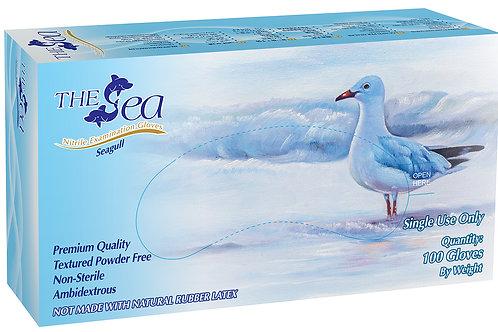 The Sea White Nitrile Powder Free Textured Exam Gloves