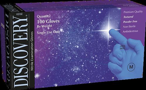 Discovery Cornflower Blue Nitrile Powder Free Textured Exam Gloves