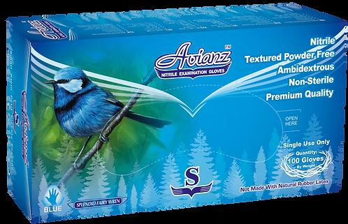 Avianz Blue Nitrile Powder Free Textured Exam Gloves