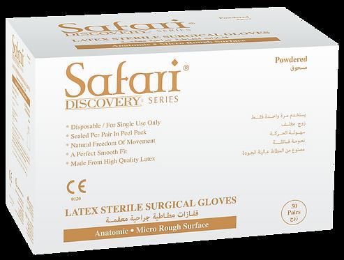 Safari Latex Powdered Textured Sterile Surgical Gloves (Non-USA)