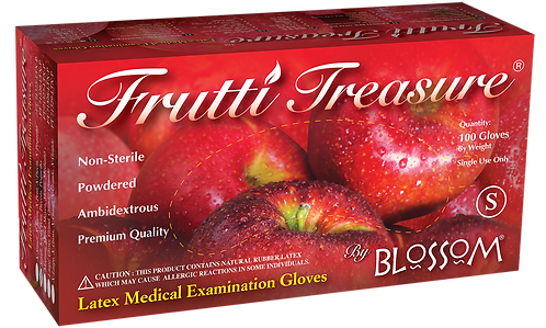 Frutti Treasure Latex Powdered Exam Gloves