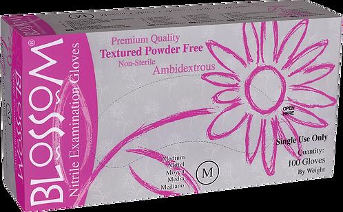 Blossom Pink Nitrile Powder Free Textured Exam Gloves (Non-USA)