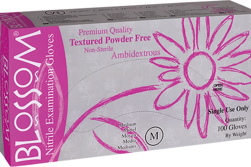 Blossom Pink Nitrile Powder Free Textured Exam Gloves (Non-USA)