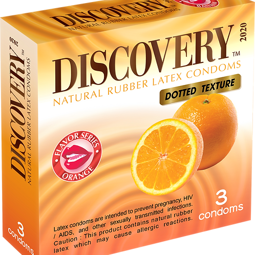 Discovery Dotted Condom (Orange)