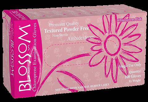 Blossom Pink Chloroprene Powder Free Textured Exam Gloves