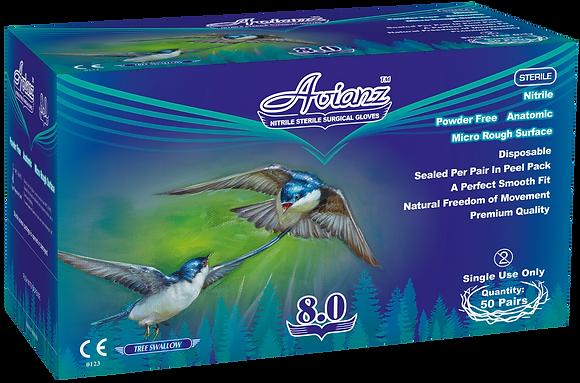 Avianz Nitrile Powder Free Textured Sterile Surgical Gloves - 280mm