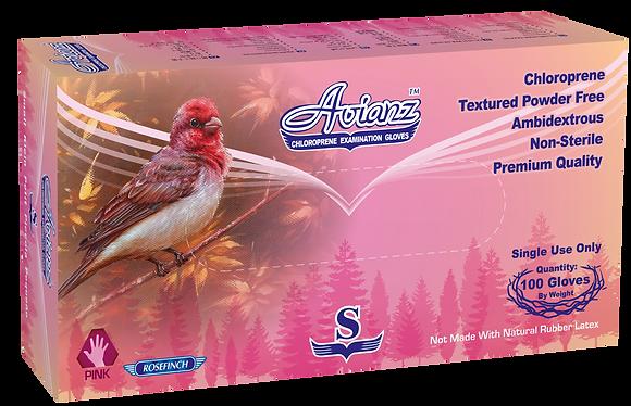 Avianz Pink Chloroprene Powder Free Textured Exam Gloves