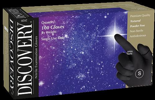 Discovery Black Nitrile Powder Free Textured Exam Gloves