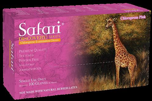 Safari Pink Chloroprene Powder Free Textured Exam Gloves