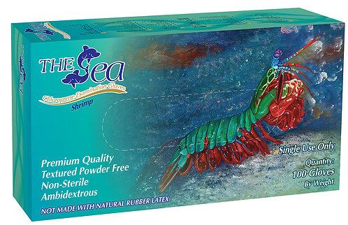 The Sea Green Chloroprene Powder Free Textured Exam Gloves