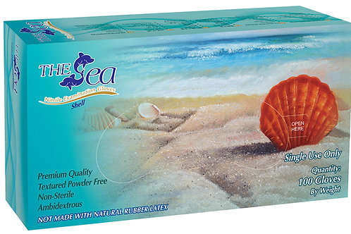 The Sea Dual Color Nitrile Powder Free Textured Exam Gloves