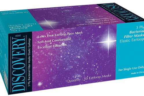 Discovery Latex Free Earloop Face Mask