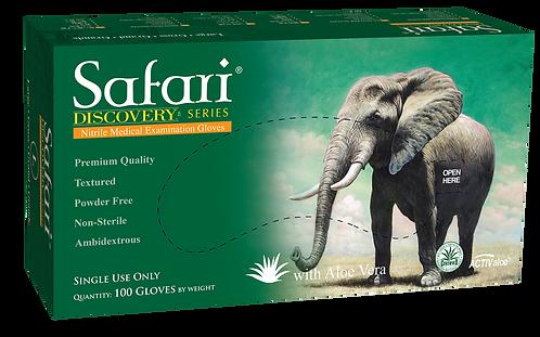 Safari Nitrile Powder Free Textured Exam Gloves with Aloe Vera