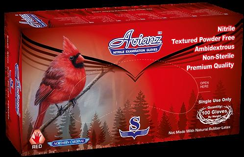 Avianz Red Nitrile Powder Free Textured Exam Gloves