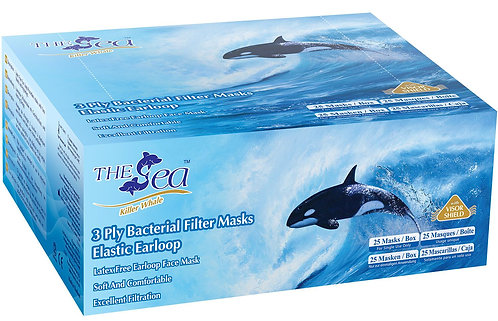 The Sea 3-PLY Facemask with Shield