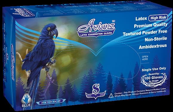 Avianz High Risk Latex Powder Free Textured Exam Gloves