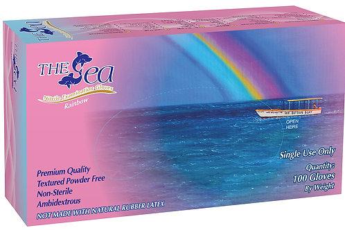 The Sea Pink Nitrile Powder Free Textured Exam Gloves (NON-USA)
