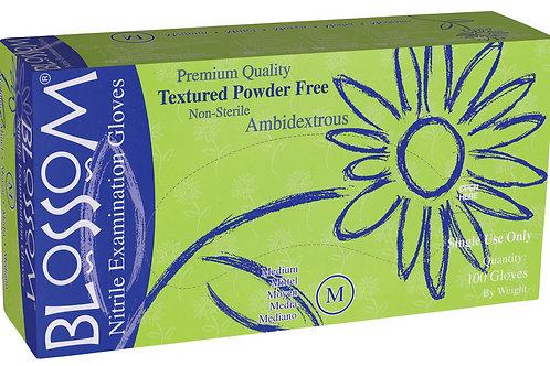 Blossom White Nitrile Powder Free Textured Exam Gloves