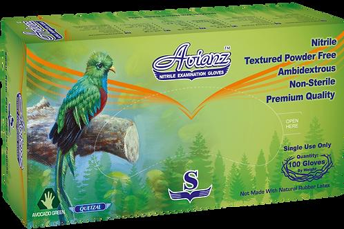 Avianz Avocado Green Nitrile Powder Free Textured Exam Gloves