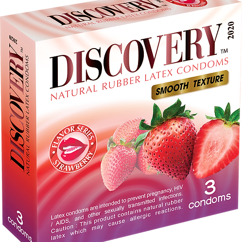 Discovery Smooth Condom (Strawberry)