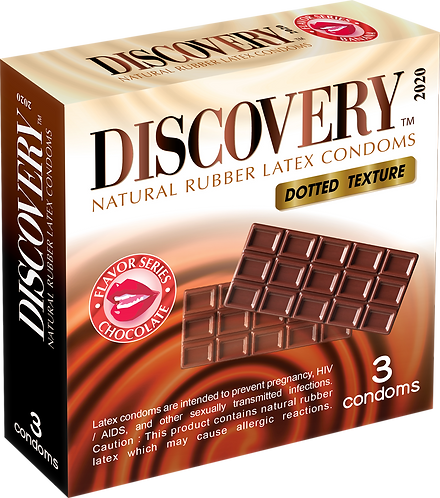 Discovery Dotted Condom (Chocolate)
