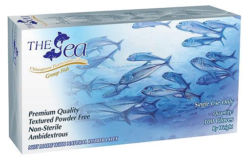 The Sea White Chloroprene Powder Free Textured Exam Gloves