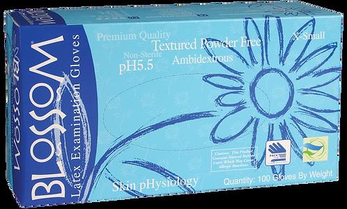 Blossom Latex Powder Free Textured Exam Gloves with pH5.5