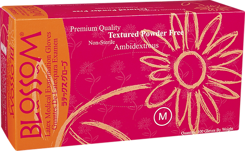 Blossom Latex Powder Free Textured Exam Gloves