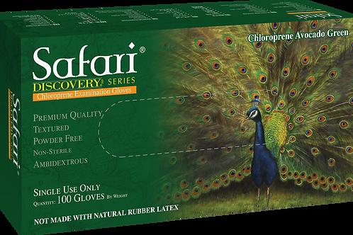 Safari Avocado Green Chloroprene Powder Free Textured Exam Gloves