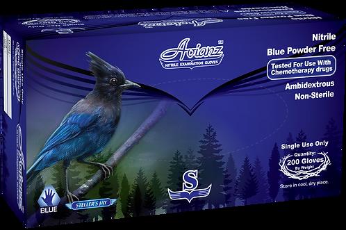 Avianz Chemo Cobalt Blue Nitrile Powder Free Exam Gloves