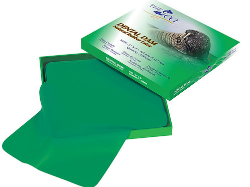 The Sea Green Rubber Dental Dam