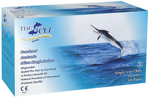 The Sea Latex Powdered Textured Sterile Surgical Gloves (NON-USA)