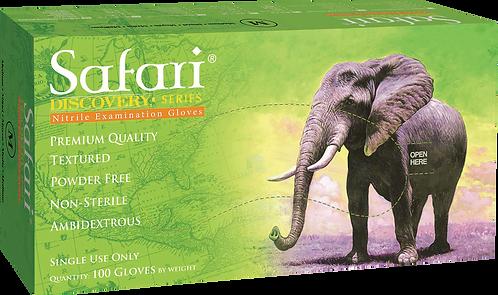 Safari Ivory Nitrile Powder Free Textured Exam Gloves