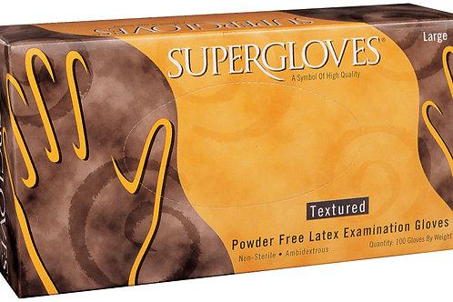 Supergloves Latex Powder Free Textured Exam Gloves