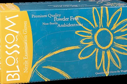 Blossom Blue Nitrile Powder Free Textured Exam Gloves