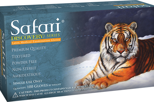 Safari Latex Powder Free Textured Exam Gloves