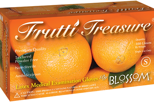 Frutti Treasure Latex Powder Free Textured Exam Gloves
