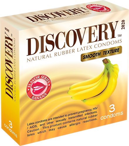 Discovery Smooth Condom (Banana)